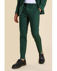 BoohooMAN Super Skinny Green Suit Trousers - Grün