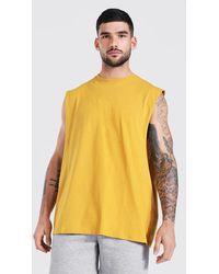 BoohooMAN Oversize vesttop mit weiten Armlöchern - Gelb