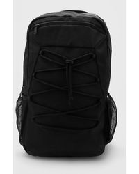 BoohooMAN Rucksack With Lace Up Detail - Black