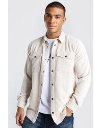 BoohooMAN Cord-Überhemd - Weiß
