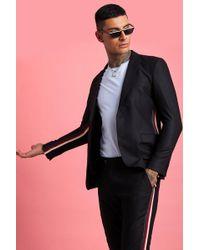 BoohooMAN - Skinny Fit Tape Detail Suit Jacket - Lyst