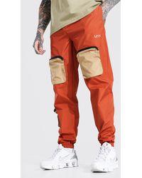 BoohooMAN Contrast Pocket Cargo Trouser - Mehrfarbig