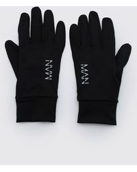BoohooMAN Man Active Running Gloves - Black