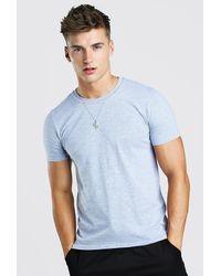 BoohooMAN T-shirt basique à col ras du cou - Gris
