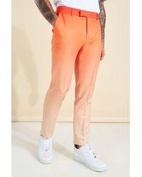 BoohooMAN Skinny Ombre Anzughose - Orange