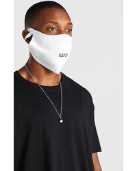 BoohooMAN 2 Pack Man Branded Reversible Fashion Masks - Black