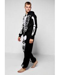 Boohoo - Black Skeleton Onesies - Lyst