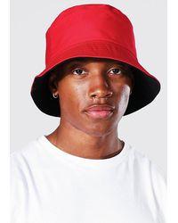 BoohooMAN Reversible Bucket Hat - Red