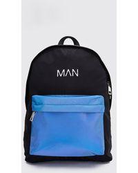 BoohooMAN Reflective Pocket Man Print Backpack - Black