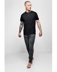 Boohoo - Grandad Collar Short Sleeve Pyjama Set - Lyst