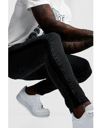 BoohooMAN Super Skinny Jeans With Side Stripe - Multicolour