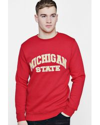 Boohoo - Michigan State Applique Sweater - Lyst