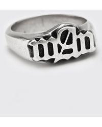 BoohooMAN Gothic Man Signet Ring - Gray