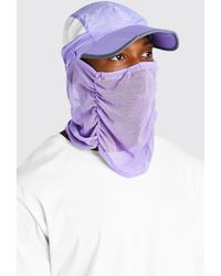 BoohooMAN Snood Cap - Purple