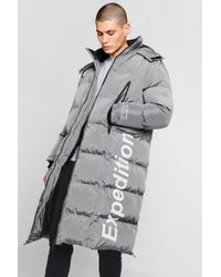 843d268fef763 BoohooMAN - Expedition Longline Duvet Puffer - Lyst