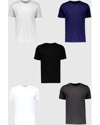 BoohooMAN - 5 Pack Basic Crew Neck T-shirt - Lyst