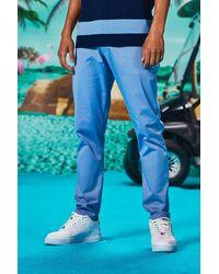 BoohooMAN Skinny Fit Chinos - Blau