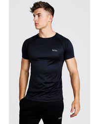 BoohooMAN Man Active Raglan T-shirt - Black