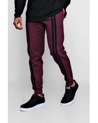 Boohoo - Regular Jogger With Front Stripes - Lyst