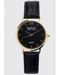 BoohooMAN Man Dash Classic Watch - Black