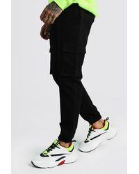 BoohooMAN Utility Pocket Cargo Jogger Trousers - Black