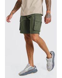 BoohooMAN Short cargo à taille élastique - Vert