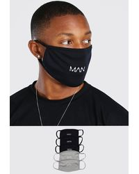 BoohooMAN Lot de 5 masques mode différents MAN Dash - Multicolore