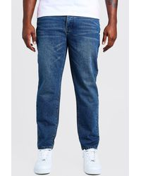 BoohooMAN Big & Tall Slim Fit Rigid Jean - Blue