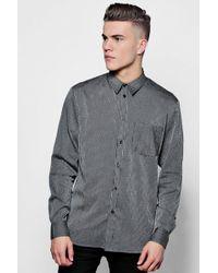 Boohoo - Long Sleeve Striped Shirt - Lyst