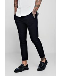 BoohooMAN Skinny Plain Smart Jogger Trouser - Multicolour