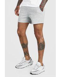 BoohooMAN Basic Short Length Jersey Short - White