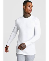 BoohooMAN - Long Sleeve Man Muscle Fit T-shirt - Lyst