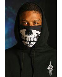 BoohooMAN Halloween Schal mit Skelett - Schwarz