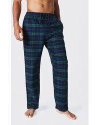 BoohooMAN Karierte Pyjama-Hose - Grün