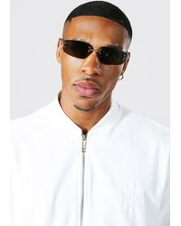 BoohooMAN Embellished Mirrored Frameless Sunglasses - Yellow