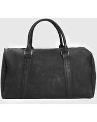BoohooMAN Pu Weekend Holdall With Zips - Black