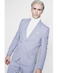 Boohoo - Skinny Fit Peak Lapel Suit Jacket - Lyst