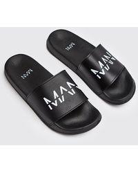 BoohooMAN Man Dash Sliders - Black