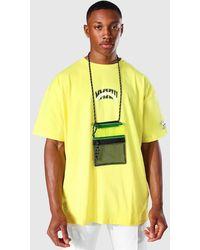 BoohooMAN Plastik Lanyard-Tasche - Gelb