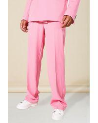 BoohooMAN Tall Jeans mit geradem Bein - Pink