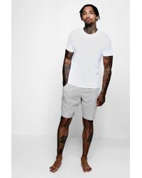 Boohoo Jersey Tee And Short Pyjama Set - White