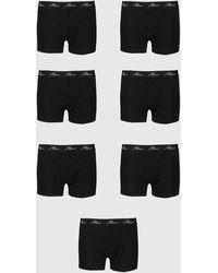 BoohooMAN Plus Size 7 Pack Man Script Boxers - Black