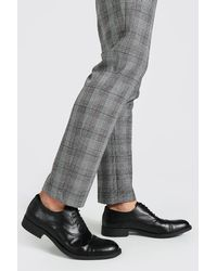 BoohooMAN Lace Up Derby Shoe - Black
