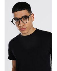 BoohooMAN Round Frame Sunglasses - Black