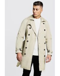 BoohooMAN Double Breasted Smart Trench - Multicolour