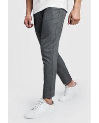 BoohooMAN Pantalon de jogging habillé uni - Gris