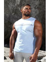 BoohooMAN Man Active Colour Block Panel Vest - Blau