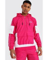 BoohooMAN Colorblock Regenjacke - Pink