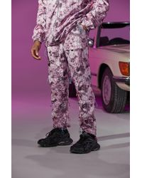 BoohooMAN - Official Tie Dye Toggle Shell Cargo Pants - Lyst