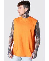 BoohooMAN Oversize vesttop mit weiten Armlöchern - Orange